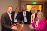 CSL Board Members Rich Lechner, IBM, Terry Cain, Avnet, (left), Chris Zane, Zane Cycles, Mary Murcott, NOVO 1 and Budco, (right) with Stan Phelps, 9 Inch Marketing (center)
