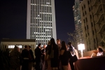 Networking reception on the rooftop